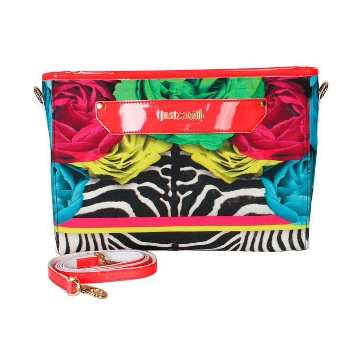 A floral clutch is the perfect accessory for a simple outfit! #robertocavalli #bright #justcavalli #italianfashion #fashion #lpurse #luxuryfashion #marinamall #moda #clutch #floral #zebraprint #greenbird #greenbird #bold