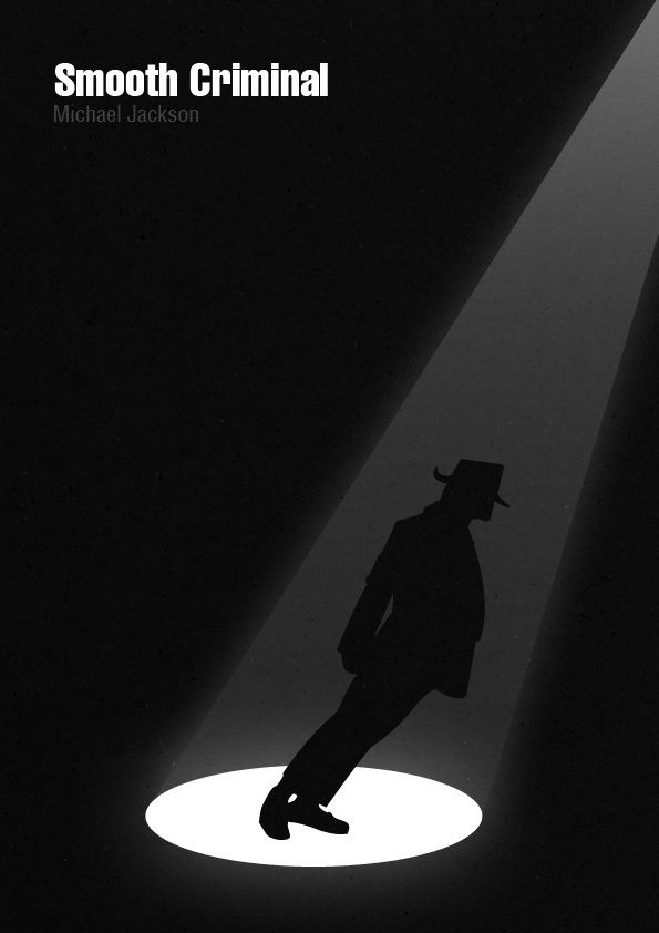 """""""Smooth Criminal"""" - A Minimalist poster tribute to the King of Pop, Michael Jackson by Tharanga Punchihewa"""