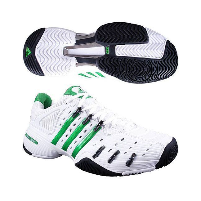 Adidas Barricade V Men's Tennis Shoes (White/Green/Black)