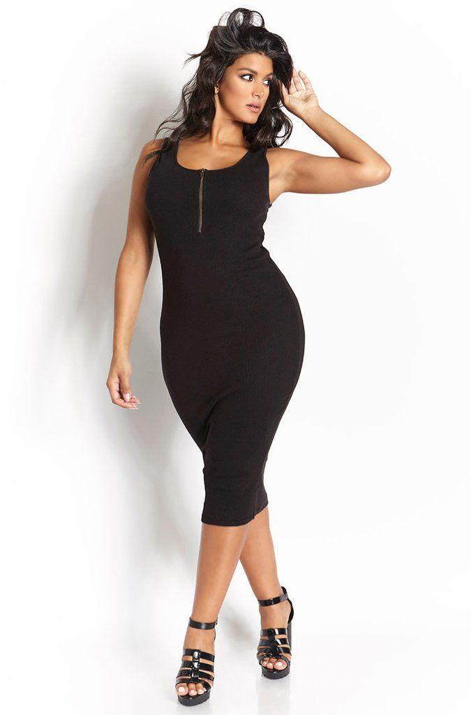 Plus SIze Bodycon Dress - Sizes 0 - 32