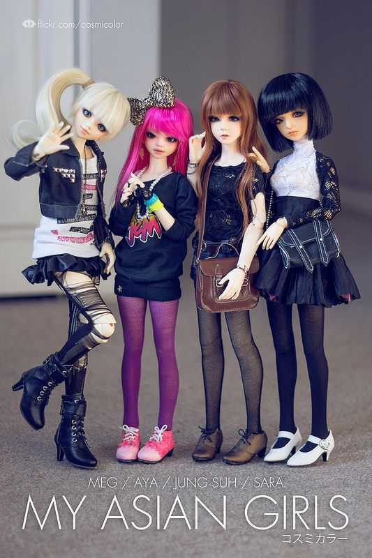 Asian Girls by Sebastián Vargas via Flickr       #doll #bjd