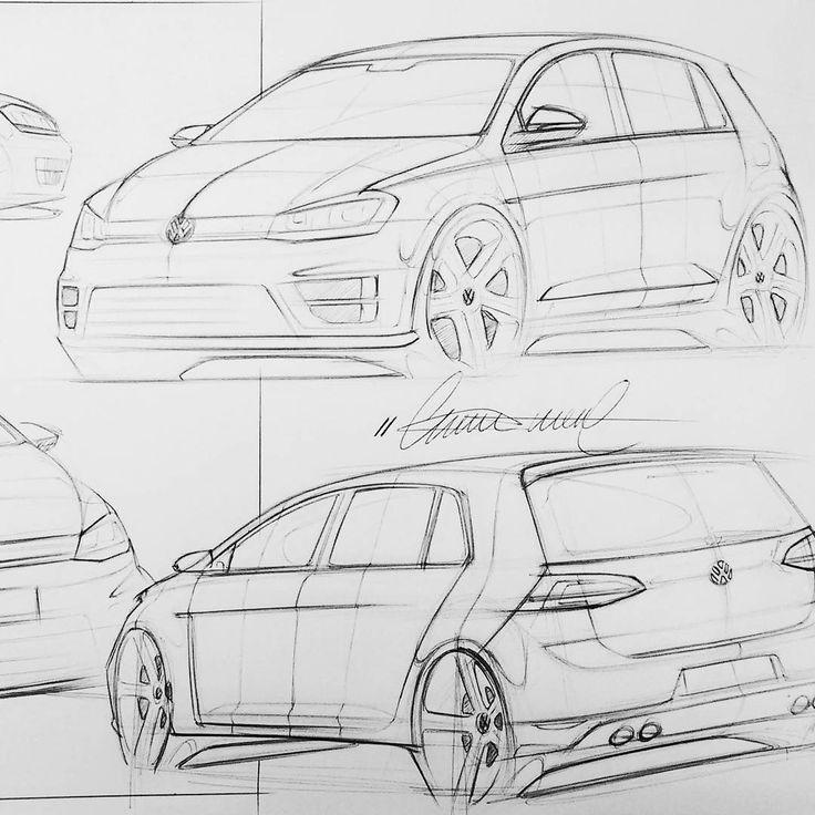 "116 Likes, 6 Comments - CM-Z (@munhozcomz) on Instagram: ""VW golf studies #drawing #sketch #sketching #sketches #design #industrialdesign #productdesign…"""