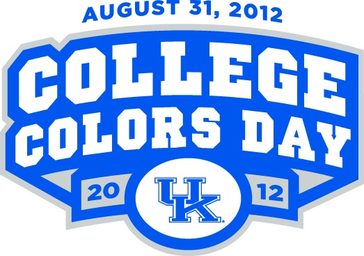 UK College Colors Day--Friday, August 31, 2012. Support the Cats by wearing your Blue and White!: Allegiant, Blue, Fans, Schools Spirit, Colleges Colors, August 31St, Texas Longhorns, Wear, South Carolina Gamecocks