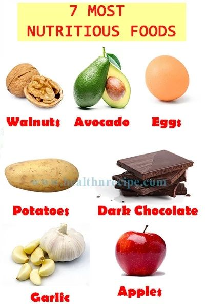 7 Most Nutritious Foods Nutrition Values | Health Ature