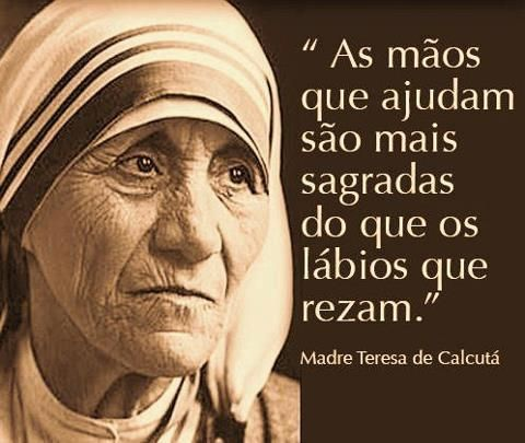 Pensamentos do Dia: Madre tereza DE Calcutá