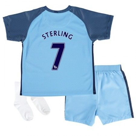 Manchester City Trøje Børn 16-17 Raheem #Sterling 7 Hjemmebanesæt Kort ærmer.199,62KR.shirtshopservice@gmail.com