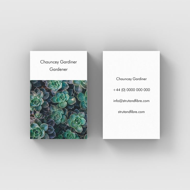 Gardiner – one of our Image business card templates available to customise and order on our site.