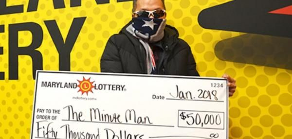 Maryland man's winning lottery numbers came from a scratch-off