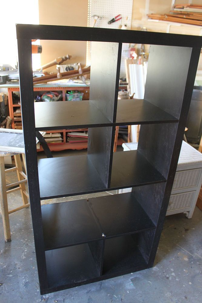 Turn Old Bookshelf Into Rolling Kitchen Island! There's always something you can use this for!