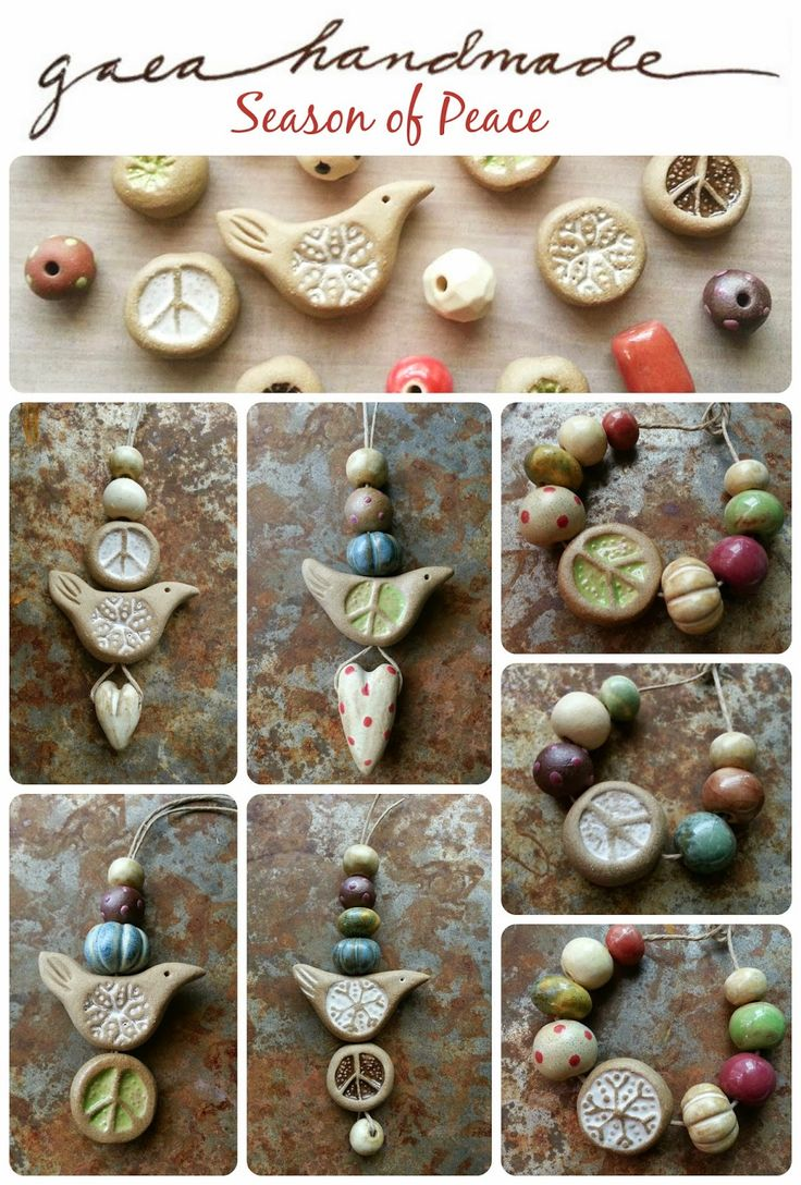 Handmade ceramic beads, pendants, and charms. Peace, birds, snowflakes… Gaea Ceramic Bead and Art Studio Blog: Wintertime