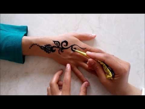 hint kınası nasıl yapılır/hint kınası yapımı/hint kınasıyla dövme yapımı 5 - YouTube