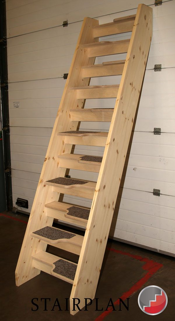 Birch Plywood Treads On Loft Staircases