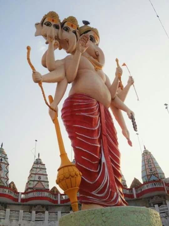Shree Ganesh murti at Shri Mai Mandir at Nadiad, Gujarat state of BHARAT (India)