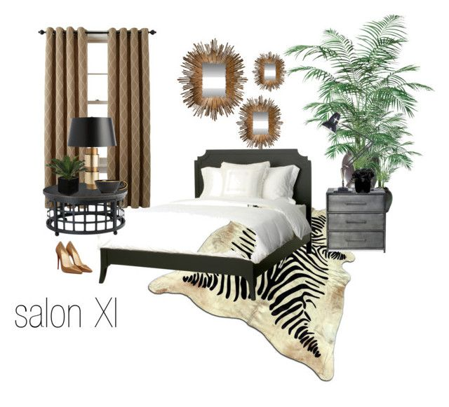salon XI by a-filipczak on Polyvore featuring interior, interiors, interior design, dom, home decor, interior decorating, Redford House, Arteriors, Anglepoise and Global Views