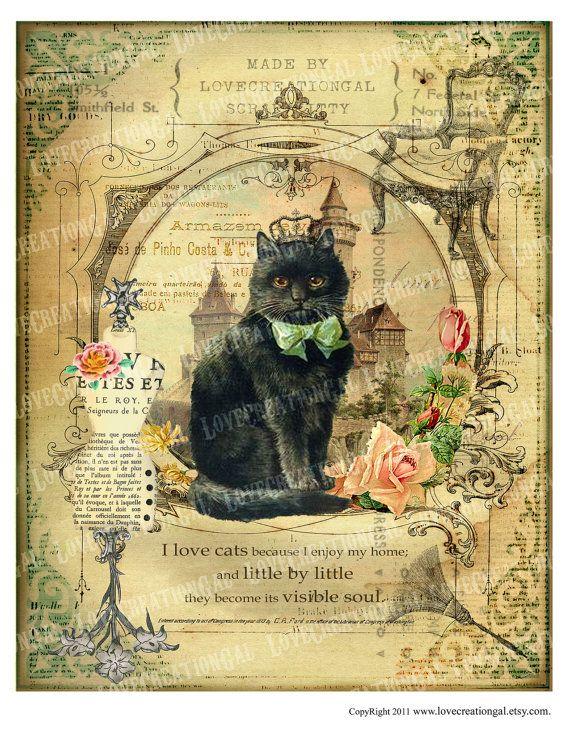 8x10 Printable Art Digital Images Vintage Love by lovecreationgal, $3.75