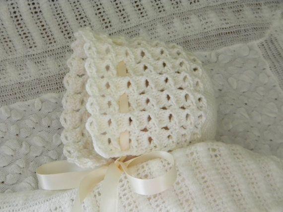 107 best crochet baby bonnets images on pinterest crochet baby vintage crochet baby bonnet by gettheetoayarnery on etsy dt1010fo