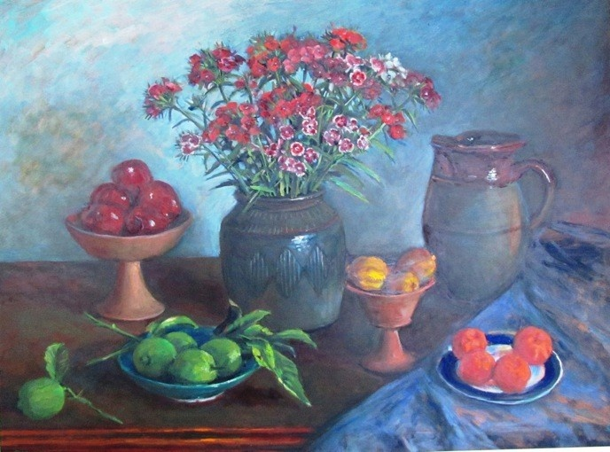 Still Life with Fruit and Flowers by Margaret Olley
