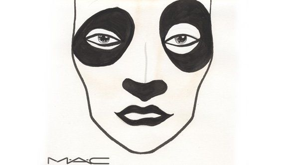 Think outside the box this Halloween with M.A.C's panda makeup.
