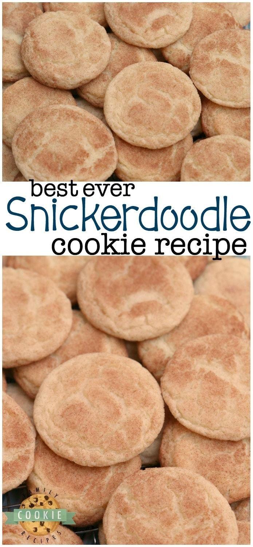 Klassisches Snickerdoodle-Rezept für die besten Snickerdoodle-Kekse aller Zeiten! Soft & Che …