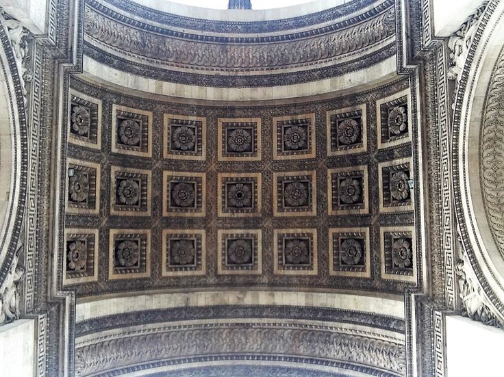 Arc de Triomphe, view from the underneath