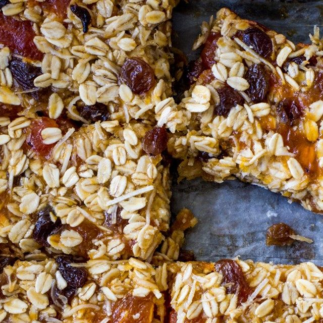 Apricot and Coconut Oat Slice - Nadia Lim