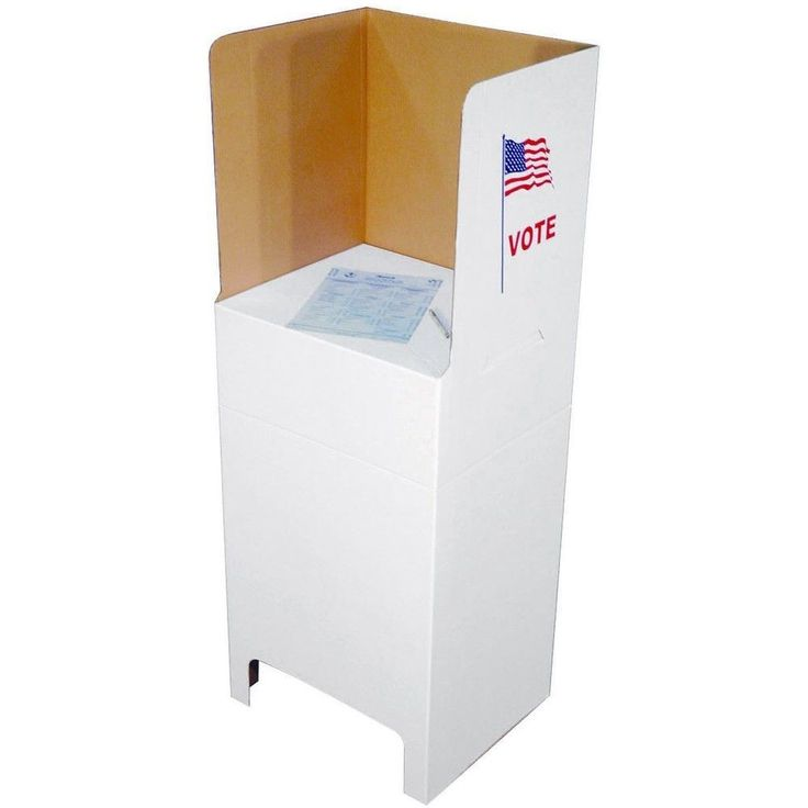 Select CB One-Piece Voting Booth - Cardboard & Corregated Booths - Voting…