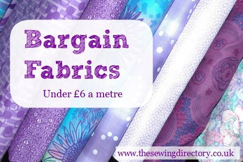 Where to buy low cost fabrics online - less than £6 a metre #sewingdirectory