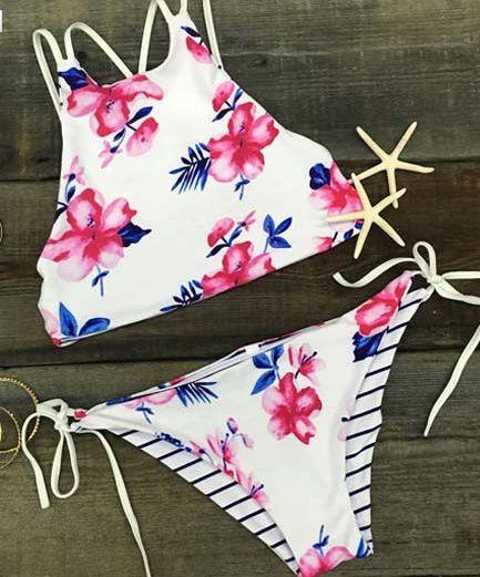 "Hot Fallin' For You Floral Women Bikini Summer Sexy Leisure Swimsuit Polyester Bikini Set "" FREE SHIPPING """