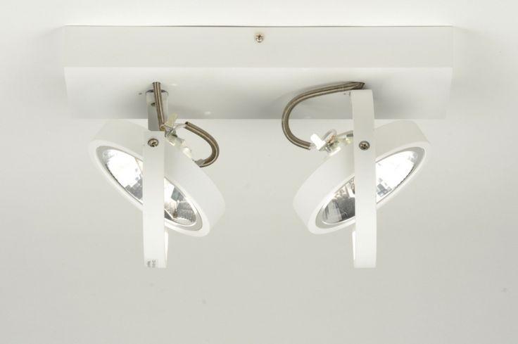 plafondlamp 71561: modern, design, aluminium, wit, mat, rond ... webshop femkeido