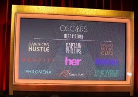 OSCARS: 86th Academy Award Nominations Announcement: Nine Best Film Nominees – 'American Hustle' And 'Gravity' Lead Way With 10 Noms Each, '...