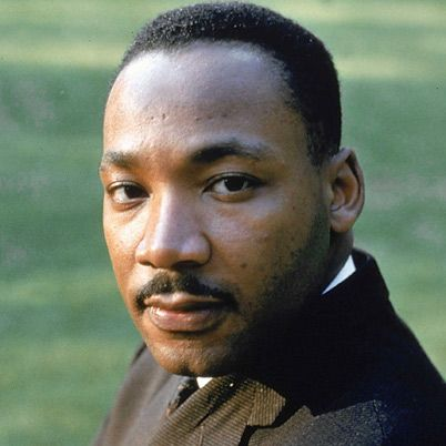 Baptist minister and civil-rights activist Martin Luther King Jr. from Morehouse College.