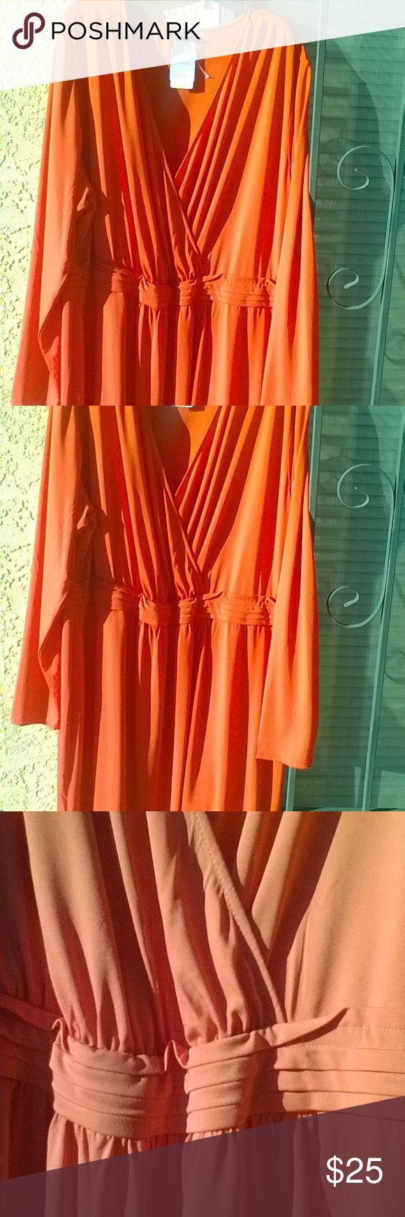 Plus Size 4X Torrid Red Dress Deep V **Host Pick** HOST PICK!! WEEKEND WEAR PART 11/11!!!!!!!!!!!!!!  Plus Size 4X Torrid Red Dress.  Deep V-neck. Lightweight midi length dress.  New with tags. Color: Red. Size 4X. torrid Dresses