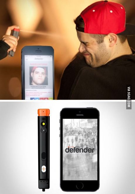 Pepper spray that takes a picture of the person you spray...