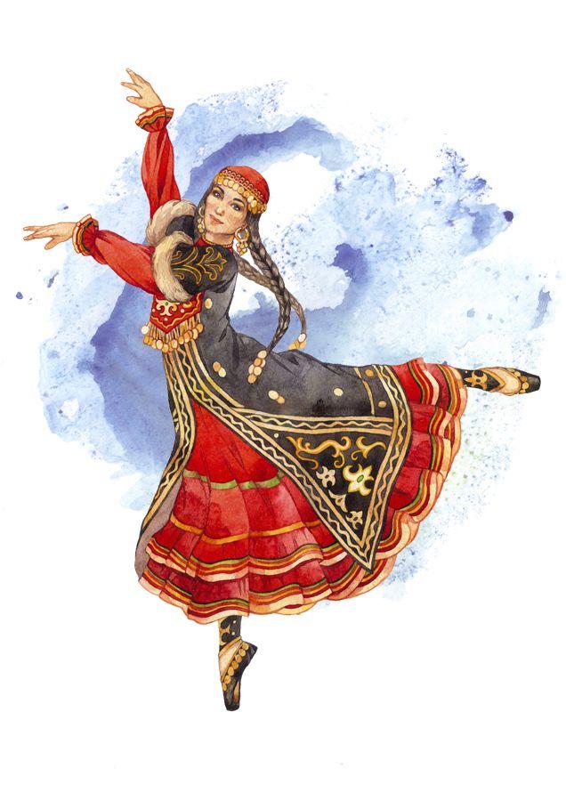 Bashkir woman башкирская девушка