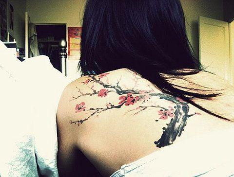 wooooow love it: Tattoo Ideas, Tattoo Inspiration, Trees Tattoo, Body Art, Dreams Tattoo, Back Tattoo, Blossoms Trees, A Tattoo, Cherries Blossoms Tattoo
