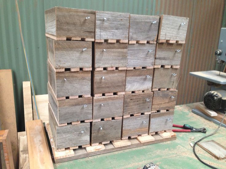 Planter boxes from recycled fence