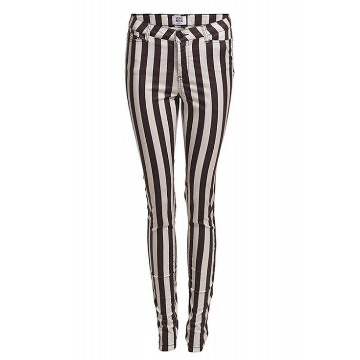 Pantaloni Dama VERO MODA Wonder Stripe White Black