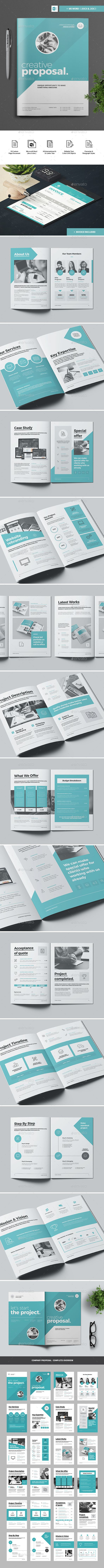 #Proposal - Proposals & #Invoices Stationery Download here: https://graphicriver.net/item/proposal/19642443?ref=alena994