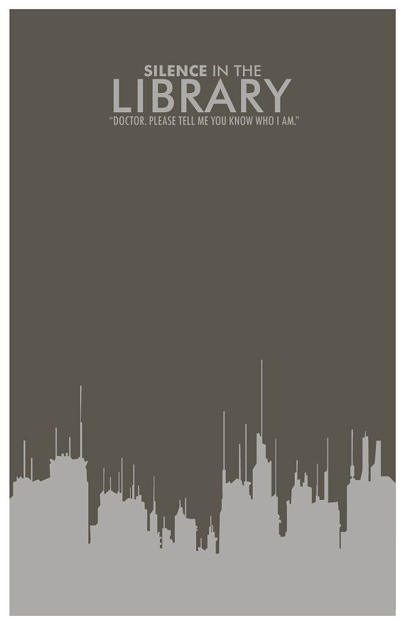 Silence In The Library poster by balancedpersonality #Doctor_Who