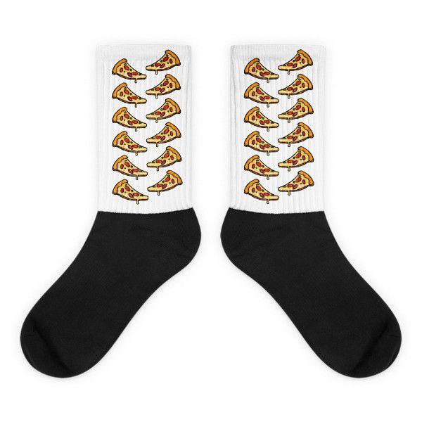 Pizza - Black Foot Socks For Pizza Lovers