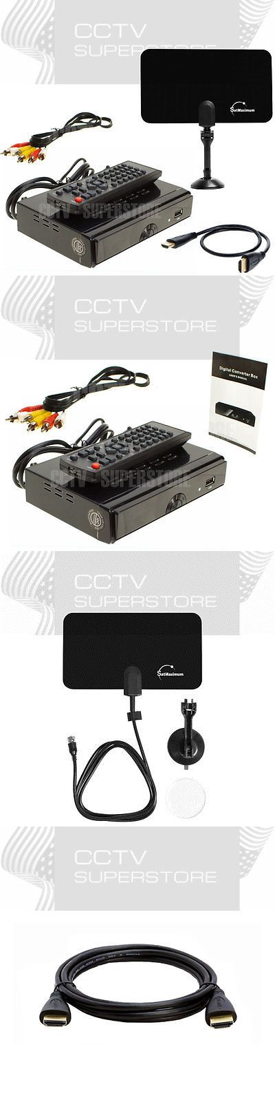 Cable TV Boxes: Hd Tv Digital Converter Box Pvr Flat Indoor Tv Antenna 25 Miles -> BUY IT NOW ONLY: $33.45 on eBay!