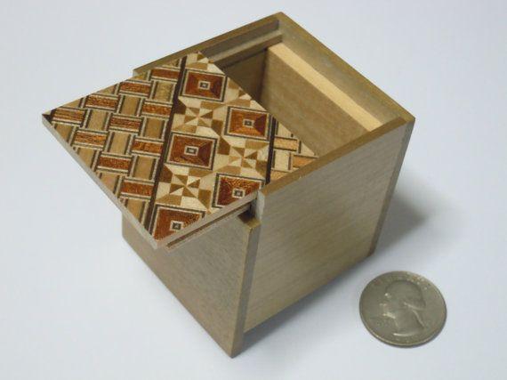 Japanese Puzzle box Himitsu bako 2.2inch56mm Cube 2steps