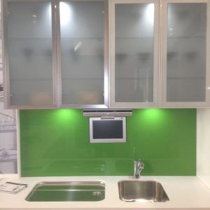 Frosted Plexiglass Cabinet Doors