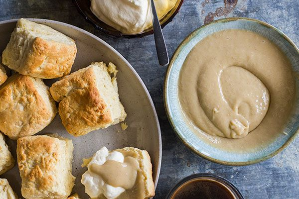 Feijoa curd and scones