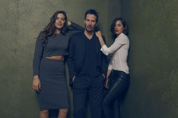Keanu Reeves Current Girlfriend | Keanu Reeves (L-R) Actors Keanu Reeves, Lorenza Izzo and Ana de Armas ...