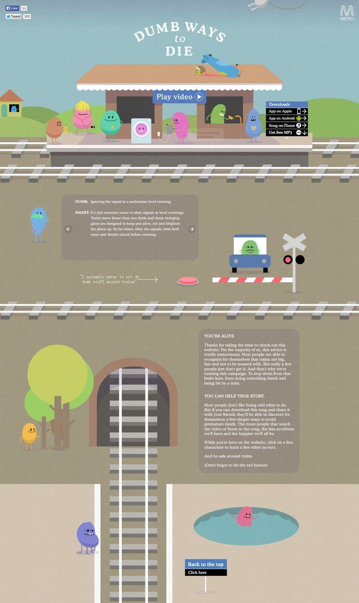 http://dumbwaystodie.com/   #web  #design