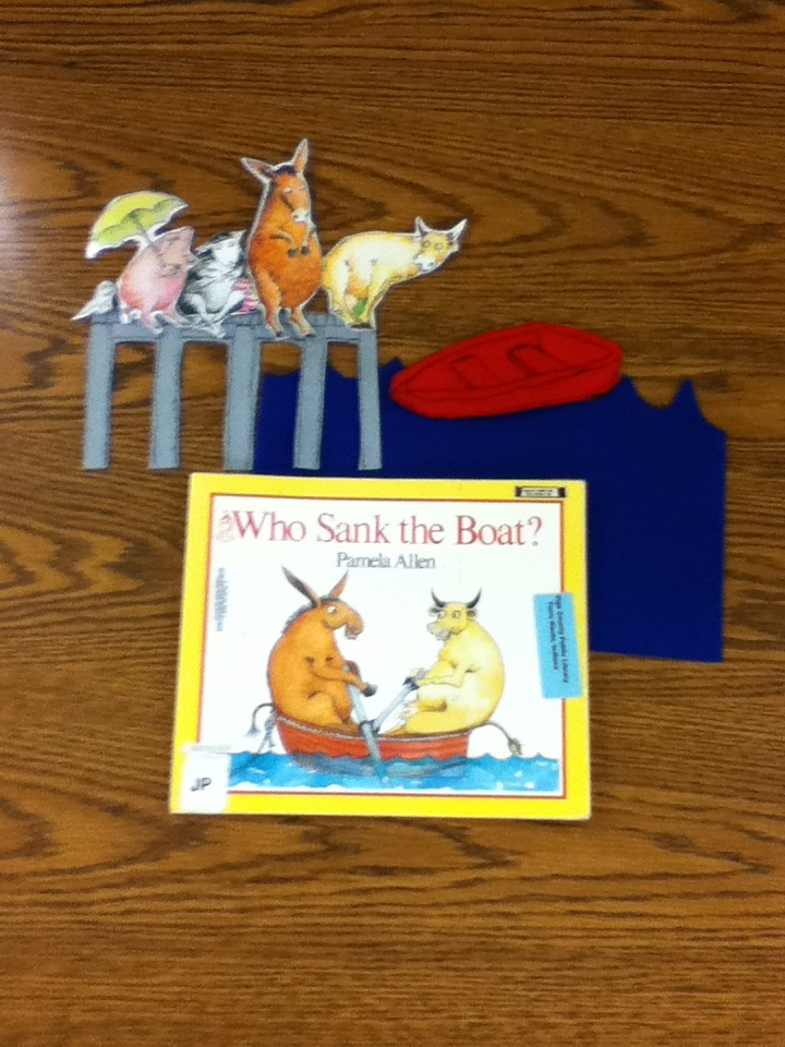 Who sank the boat?  The preschoolers that Mother Goose on the Loose visits will find out the answer in September.