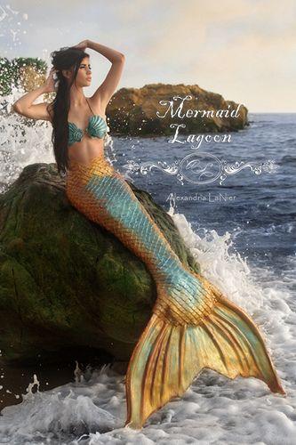 2 carat engagement rings mermaid lagoon  Mermaid