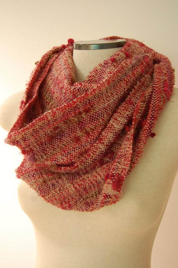 Extra Long Scarf Hand Woven Scarf Wool by LocallySewnTextiles