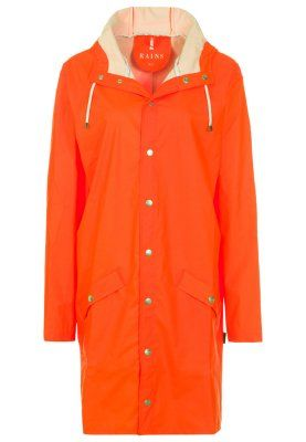 Rains LONG - Veste imperméable - orange - ZALANDO.FR